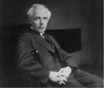 Béla Bartók in 1927. Public domain photo