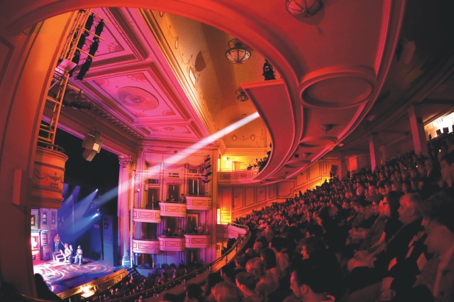 A packed house at the Shubert Theater. Photo by Steve Blazo.