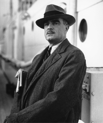 Thornton Wilder on the SS Britannic in 1935. Photo courtesy of the Wilder Family LLC and the Yale Collection of American Literature, Beinecke Rare Book and Manuscript Library.