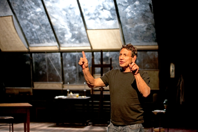"Gordon Edelstein directs a rehearsal for Long Wharf Theatre's 2012 production of ""My Name is Asher Lev."" Image courtesy of Long Wharf Theatre."