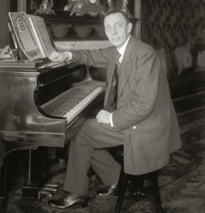 Rachmaninoff and Steinway. Photo by Bain News Service/Library of Congress, Prints & Photographs Division