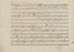 A page from the score to Beethoven's Piano Concerto No. 3. IMSLP photo.
