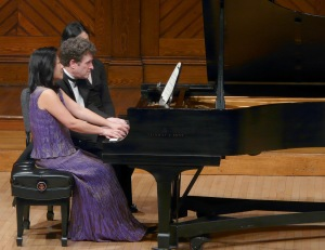 Pianists Mihae Lee and Randall Hodgkinson. Photo courtesy of Essex Winter Series.